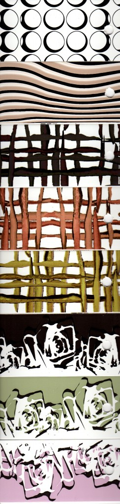 Kanten für Holzwerkstoffplatten mit verschiedenen Motiven 'kreise', 'wood', 'grow', 'rose'