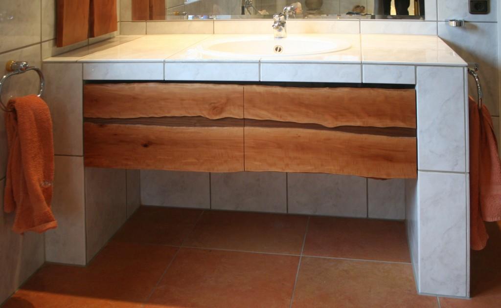 Bad Unterschrank Waschtisch Birnbaum | Nussbaum