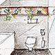 Innenarchitektur Skizze 3